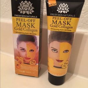 Other - 2 gold collagen peel off mask & free cosmetic bag
